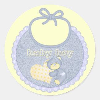 De Slab van de Jongen van het baby draagt de Ronde Stickers