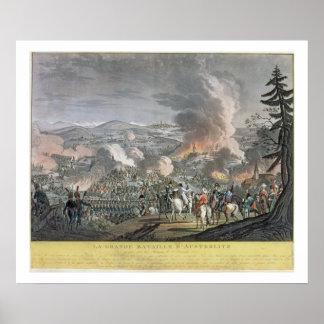 De slag van Austerlitz, 2 December 1805 (colou Poster