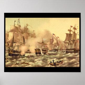 De slag van Meer Erie, Commodore_Engravings Poster