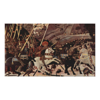 De slag van Romano Part II van San Poster