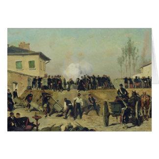 De slag van Villejuif, Belegering van Parijs, 1870 Wenskaart