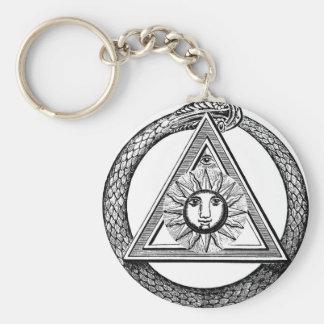 De Slang van de Vrijmetselaar van de driehoek Sleutelhanger