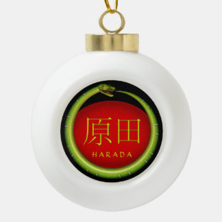 De Slang van het Monogram van Harada Keramische Bal Ornament