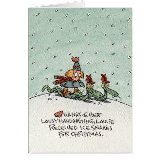 De Slangen van het Ijs van Kerstmis Briefkaarten 0