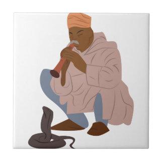 De Slangenbezweerder van Marrakech Tegeltje
