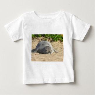 De slaperige Hawaiiaanse Verbinding van de Monnik Baby T Shirts