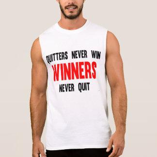 De slappelingen winnen nooit nooit met opgehouden t shirt