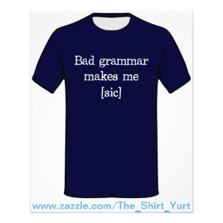 De slechte Grammatica maakt me [sic] Gepersonaliseerde Folder