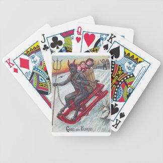 De Slee van Krampus Poker Kaarten