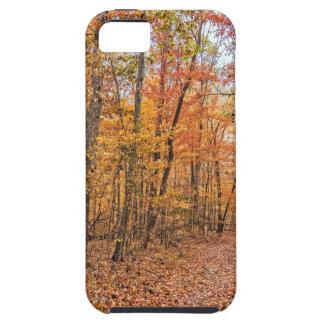 De sleep van de Herfst Tough iPhone 5 Hoesje