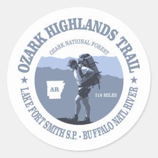 De Sleep van de Hooglanden van Ozark Ronde Sticker
