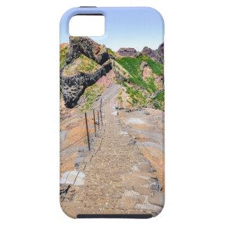 De sleep van de wandeling omhoog in bergen op tough iPhone 5 hoesje