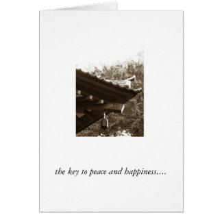 de sleutel tot vrede en geluk… briefkaarten 0