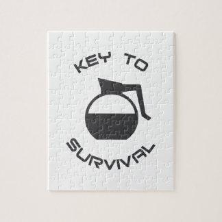 De Sleutel van de koffie tot Overleving Foto Puzzels