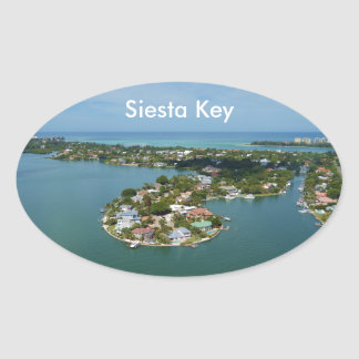 De Sleutel van de siësta, Florida Ovaalvormige Stickers