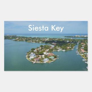 De Sleutel van de siësta, Florida Rechthoek Sticker