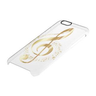 De sleutel van de viool doorzichtig iPhone 6/6S hoesje