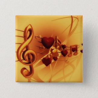 De sleutel van de viool vierkante button 5,1 cm