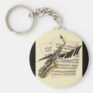 De Sleutelring van de Muziek van de saxofoon & van Sleutelhanger