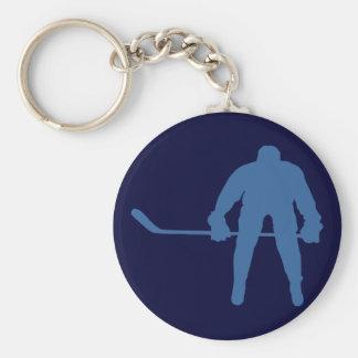 De Sleutelring van het Silhouet van het hockey Sleutelhanger