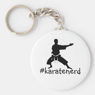 De sleutelring van Nerd van de Karate van de Manie Sleutelhanger