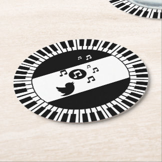 De Sleutels en de Zangvogel van de Piano van de Ronde Onderzetter