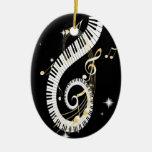 De Sleutels van de piano en de Gouden Nota's van Ornamenten