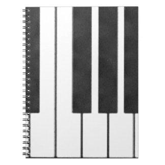 De Sleutels van de piano in de Sleutel van me! Ringband Notitie Boeken