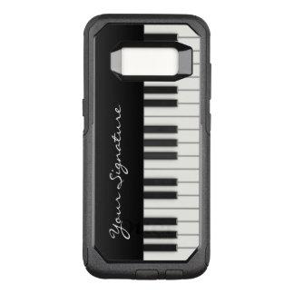De Sleutels van de piano met Handtekening OtterBox Commuter Samsung Galaxy S8 Hoesje