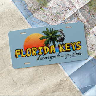 De Sleutels van Florida (waar u aangezien u Nummerplaat