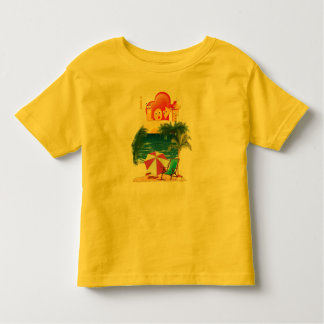 De slijtage van het strand kinder shirts