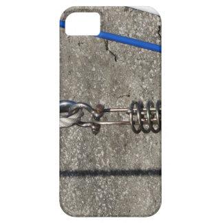 De slinger van de kabel met barely there iPhone 5 hoesje