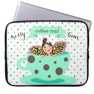 De slordige Koffie van het Broodje stelt Laptop Laptop Sleeve