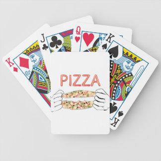 De Smakelijke Pizza van de cartoon en Hands3 Bicycle Speelkaarten