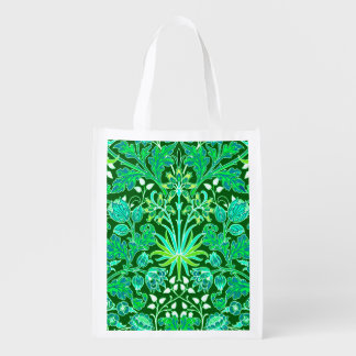 De Smaragdgroene Druk van de Hyacint van William Herbruikbare Boodschappentas