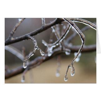 De smeltingen van het ijs, warme harten kaart