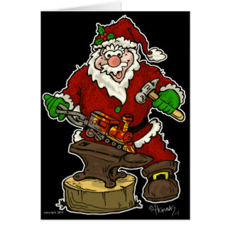 De Smid van de Kerstman van Kerstmis Briefkaarten 0