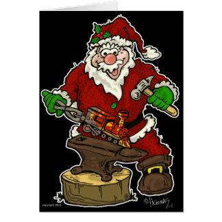 De Smid van de Kerstman van Kerstmis Wenskaart