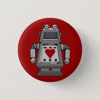 De smoorverliefde Knoop van de Robot Ronde Button 3,2 Cm