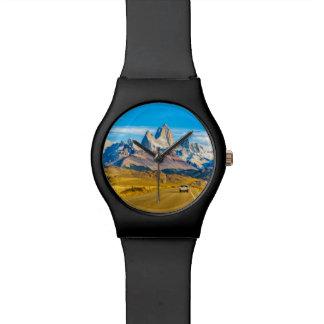 De sneeuw Bergen van de Andes, Gr Chalten, Horloge
