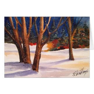 De sneeuw Bomen van de Winter Briefkaarten 0