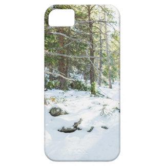 De sneeuw BosSpeelplaats van de Wildernis Barely There iPhone 5 Hoesje