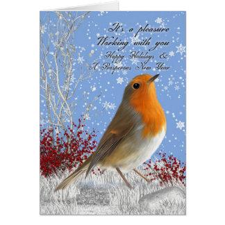 De Sneeuw en de Winter S van Robin Business Holida Wenskaart