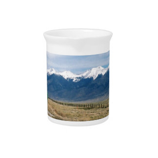 De Sneeuw Mountais van Colorado Drank Pitcher