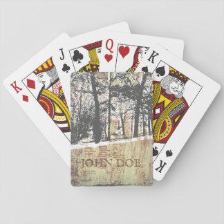 De sneeuw Speelkaarten van de Houthakker