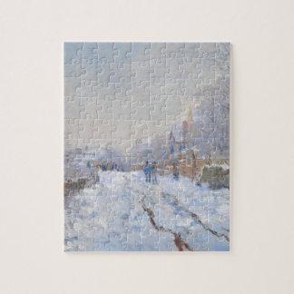 De Sneeuw van Claude Monet //in Argenteuil Puzzel