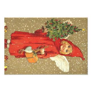 De Sneeuw van de Kerstboom van de Cherubijn van de Fotoafdruk