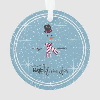 De Sneeuwman Blauwe ID440 van magische en Wonder Ornament