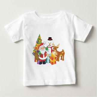 De Sneeuwman van het Rendier van de Kerstman van Baby T Shirts