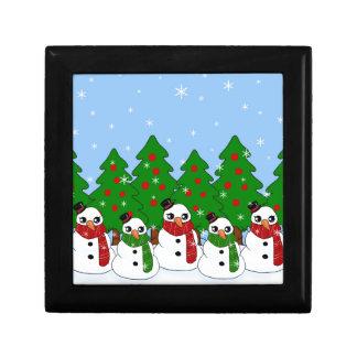 De Sneeuwman van Kawaii Decoratiedoosje
